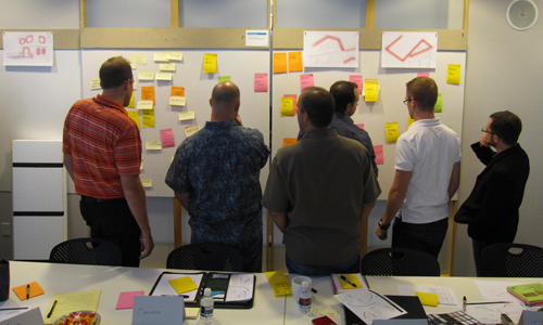 designers working in a brainstorming session