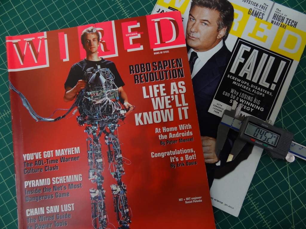 The difference in wired magazine sizes