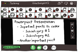Illustration of GoToMeeting live microphone state.